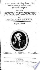 Betrachtungen über die Philosophie der Natürlichen Religion