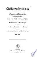 Civilprozessordnung und Gerichtsverfassungsgesetz für das Deutsche reich nebst den einführungsgesetzen