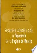 Repertorio alfabético de la toponimia de la región de Murcia
