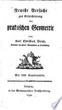 Neueste Versuche zur Erleichterung der praktischen Geometrie