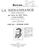 Revue de la renaissance