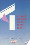 Doce años de investigación educativa: catálogo 1983-1994