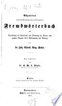 Allgemeines verdeutschendes und erkl  rendes Fremdw  rterbuch