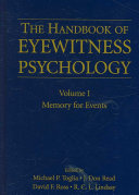 Handbook of Eyewitness Psychology  Memory for events Book PDF