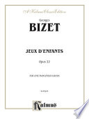 illustration Jeux D'Enfants, Opus 22, For Intermediate to Advanced Piano Duo/Duet (1 Piano, 4 Hands)