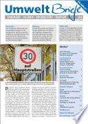 Zeitschrift UmweltBriefe Heft 01/2016