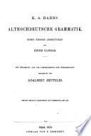 K.A. Hahn's althochdeutsche Grammatik