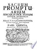 Sacrum promptuarium