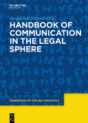 Handbook of Communication in the Legal Sphere