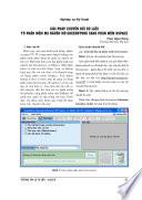 Giải pháp chuyển đổi dữ liệu từ phần mềm mã nguồn mở Greenstone sang phần mềm DSpace