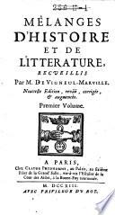 Mélanges D'histoire Et de Litterature