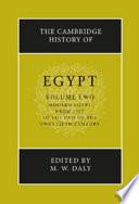 The Cambridge History of Egypt English Language Treatment Of Egyptian History