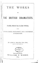 download ebook the works of the british dramatists pdf epub