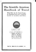 The Scientific American handbook of travel