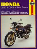 Honda Cb250n Cb400n Super Dreams Owners Workshop Manual