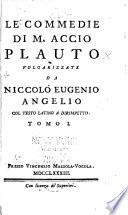 Le commedie di M  Accio Plauto