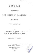 Journal of a Residence at the College of St. Columba in Ireland