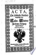 Acta Die Löbliche Vorderbergerische drey Eysen-Glieder in dem Hertzogthumb Steyer concernirent