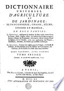 DICTIONNAIRE UNIVERSEL D'AGRICULTURE ET DE JARDINAGE, DE FAUCONNERIE, CHASSE, PÊCHE, CUISINE ET MANÉGE