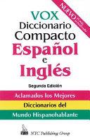 Vox Diccionario Compacto Espa  ol E Ingl  s
