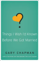 Things I Wish I'd Known Before We Got Married Book