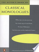 The Actor s Book of Classical Monologues
