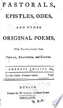 Pastorals  Epistles  Odes  and Other Poems