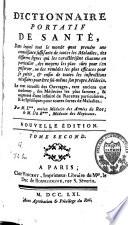 Dictionnaire portatif de santé