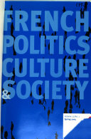 French Politics, Culture and Society