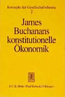 James Buchanans konstitutionelle Ökonomik