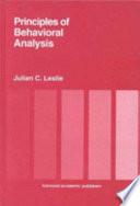 Principles of Behavioral Analysis