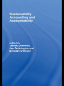 Sustainability Accounting and Accountability