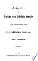 Geschichte der deutschen evang.-lutherischen gemeine su Addison
