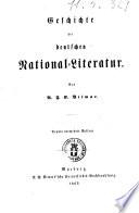 Geschichte der deutschen National-Literatur von A. F. G. Vilmar