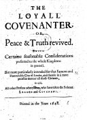 download ebook the loyall covenanter, or peace&truth revived. being certaine seasonable considerations presented to the whole kingdome in generall. but more particularly intended for that famous ... city of london, and ... all thos citizens, as also, all other persons w pdf epub
