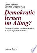 Demokratie lernen im Alltag?