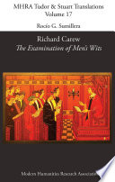 Richard Carew  The Examination of Men s Wits