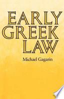 Early Greek Law