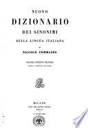 Nuovo dizionario dei sinonimi della lingua italiana di Niccol   Tommaseo