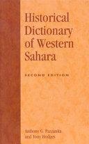 Historical Dictionary of Western Sahara