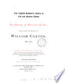 The history of Reynard the fox, tr. and pr. by W. Caxton, ed. by E. Arber
