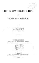 Das Criminalrecht der Römischen Republik