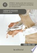Aplicaci  n de normas y condiciones higi  nico sanitarias en restauraci  n  HOTR0208