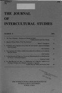 The Journal of Intercultural Studies