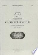 Atti Della Fondazione Giorgio Ronchi Anno LXV N 5