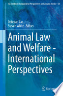 Animal Law and Welfare   International Perspectives