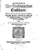 Historia der Augsburgischen Confession