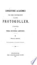 Consistorii Academici vid Åbo universitet äldre protokoller