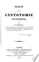 Trait   de la cystotomie sus pubienne