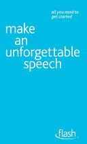download ebook make an unforgettable speech: flash pdf epub